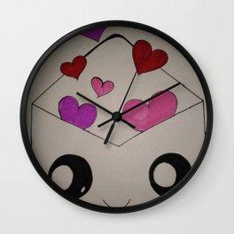 Sending My Love Print Wall Clock