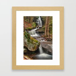 Ricketts Glen Waterfall Layers Framed Art Print