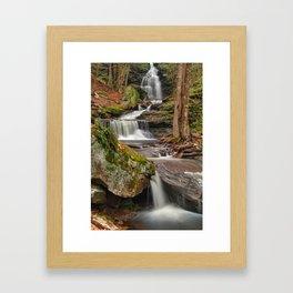 Ricketts Glen Waterfall Layers Framed Art Print