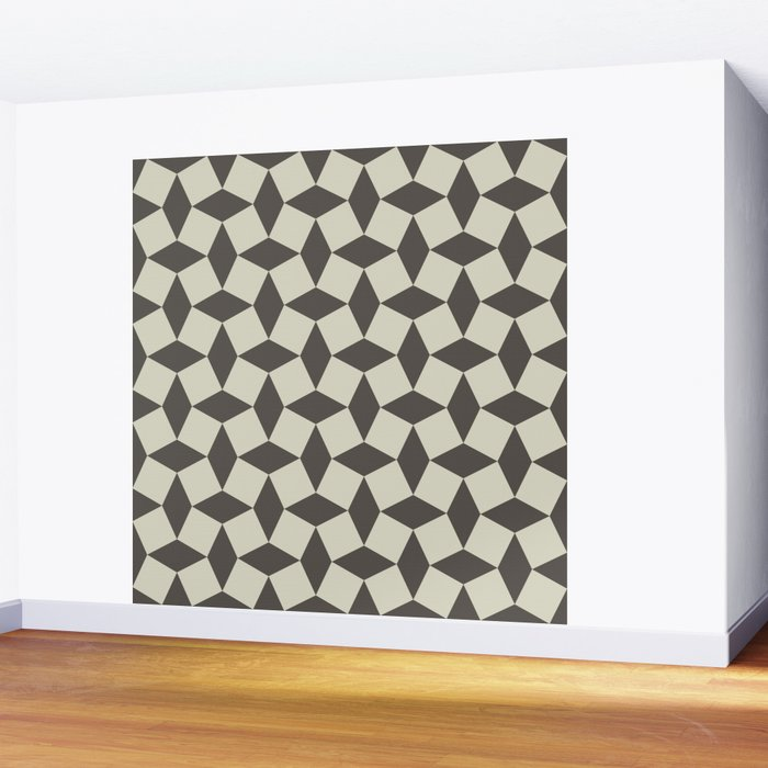 Geometric Pattern 151 (Grey Squares) Wall Mural
