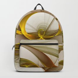 Fractal Art Precious Metals, Abstract Graphic Backpack