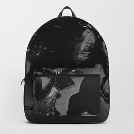 SRV - Decisions - Black and White Backpack
