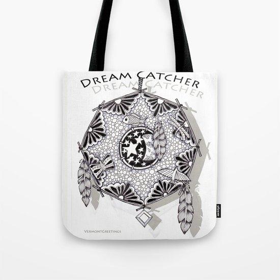 Zentangle Dreamcatcher Tote Bag