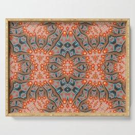 Energy Light   Orange & Teal geometry Serving Tray
