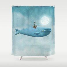 Whale Rider  Shower Curtain