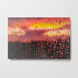 Rainy, Cozy Sunset Metal Print
