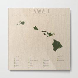 Hawaii Parks Metal Print