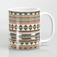 aztec Mugs featuring DG Aztec No.1 by Dawn Gardner