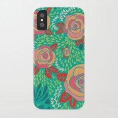 Pink Roses iPhone X Slim Case