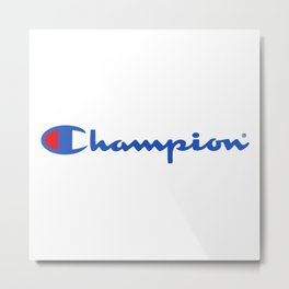 Champion Blue Logo Metal Print