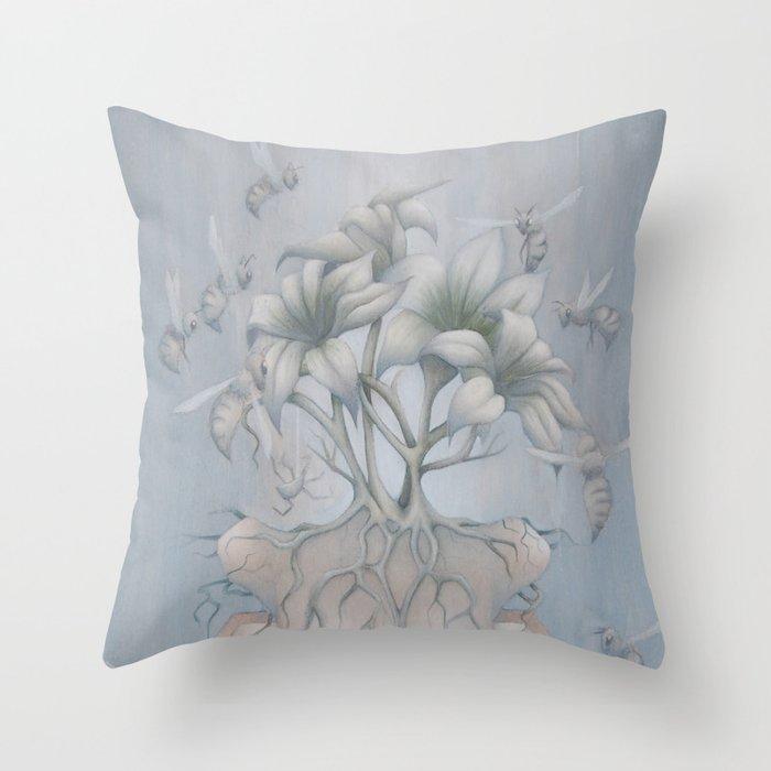 Apiphobia Throw Pillow