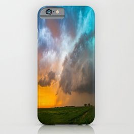 Glorious - Stormy Sky and Kansas Sunset iPhone Case