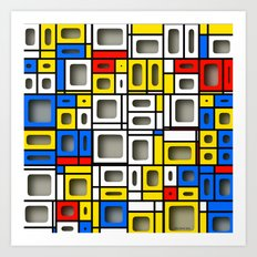 After Mondrian Art Print