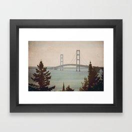 Mackinac Bridge Framed Art Print