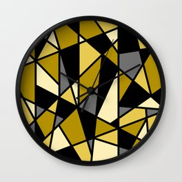 Geometric Pattern in Yellows and Black Wall Clock