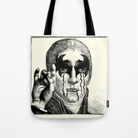 heavy metal Tote Bags featuring Heavy metal by DIVIDUS DESIGN STUDIO