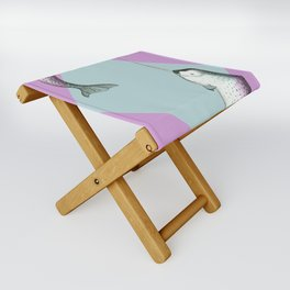 Narwhal Geometric Bright and Colorful Folding Stool
