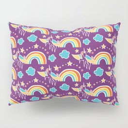 """Purple Rain(bow)"" by Mellie Test Pillow Sham"