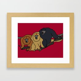 Howler Monkeys Framed Art Print