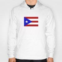 puerto rico Hoodies featuring puerto rico country flag star by tony tudor