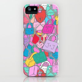 Love Locks Fence in Bright Multi iPhone Case
