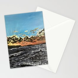 Sunset over the sea Stationery Cards