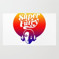 furry Area & Throw Rugs featuring SUPER FURRY by BerkKIZILAY