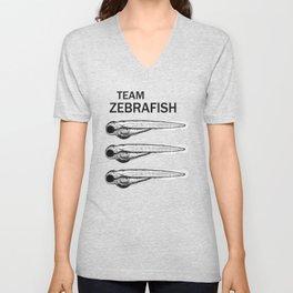 Team Zebrafish Unisex V-Neck