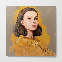 Millie B Brown Metal Print