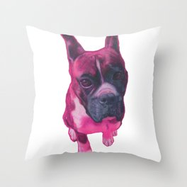 Pink Franklin Throw Pillow