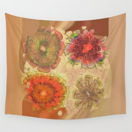 Nonpacificatory Structure Flowers  ID:16165-075207-87310 Wall Tapestry