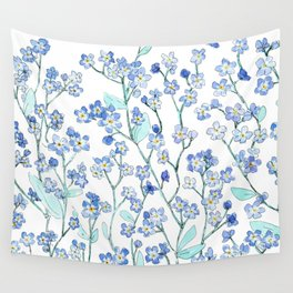 forget-me-not Wall Tapestry