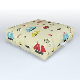 Boats Outdoor Floor Cushion