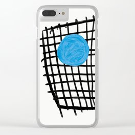 a graphic montage Clear iPhone Case