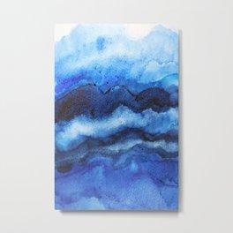 Blue Layers Metal Print