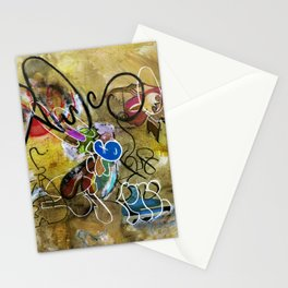 Mexicans vs Jews (oil on canvas) Stationery Cards