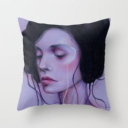 When I Close My Eyes Throw Pillow