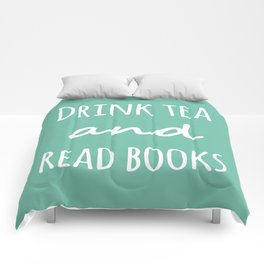 Drink Tea & Read Books  Comforters