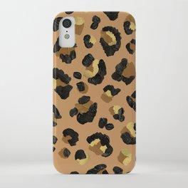 Leopard Print – Neutral & Gold Palette iPhone Case