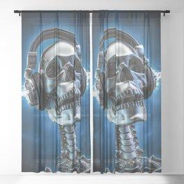 Soul music Sheer Curtain