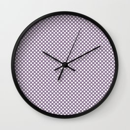Orchid Mist and White Polka Dots Wall Clock