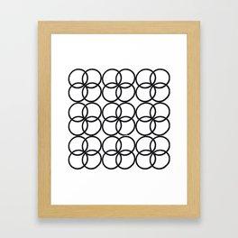 Hairtie Pattern Framed Art Print