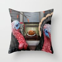 thanksgiving Throw Pillows featuring Thanksgiving by Stevie Ray Thompson