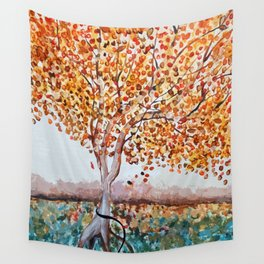 Standing Alone Tree Wall Tapestry