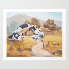 The Dragoncow Guards Her Nest Art Print