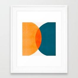 Mid Century Eclipse / Abstract Geometric Framed Art Print