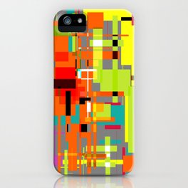 Lines and Sqaures iPhone Case