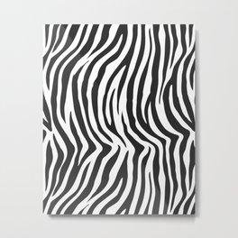 Zebra Stripes Wild Animal Print Metal Print