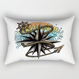 Nautical Splash Rectangular Pillow