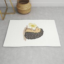 Floral Hedgehog Rug